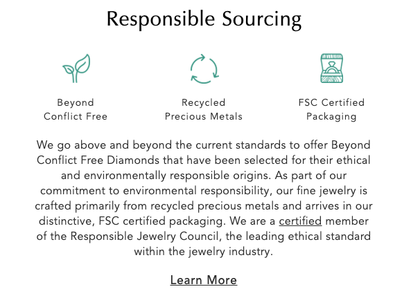 Brilliant Earth is a member of the Responsible Jewellery Council (RJC.)