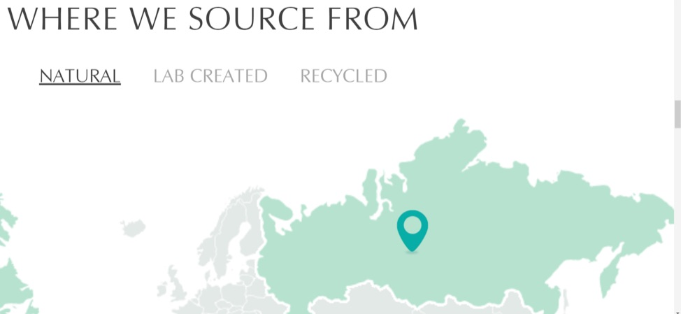 Brilliant Earth sources its diamonds from multinational corporations, including from the Alrosa mine in Russia.