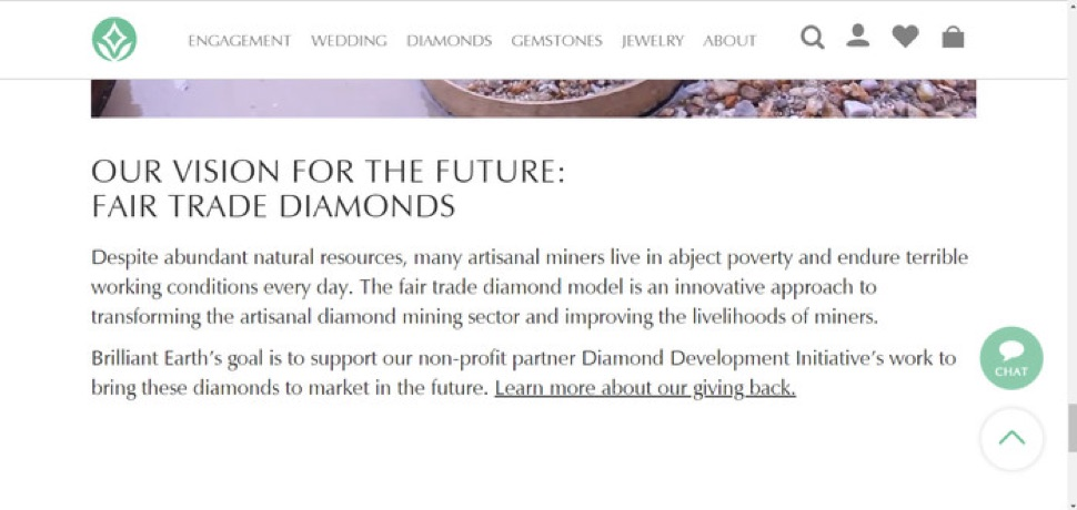 Brilliant Earth helps fund the Diamond Development Initiative (DDI), which is operated by De Beers—a company with a horrendous track record in Africa.