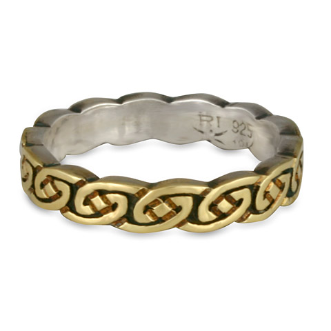 This mixed metal two tone gold over silver wedding ring is great cost-effective option!