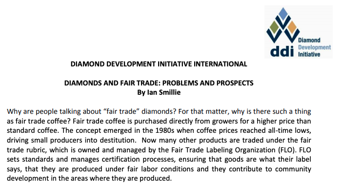 When the Diamond Development Initiative (DDI) was set up, it had a lot of potential. Why has it failed to produce a fair trade diamond?
