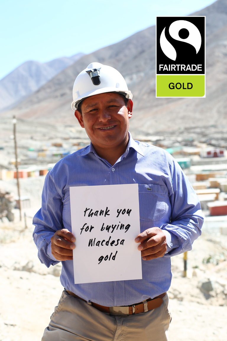 Reflective Jewelry is the only Fairtrade Gold jeweler in the US. We source our Fairtrade Gold from Macdesa, a small-scale mine in Peru.