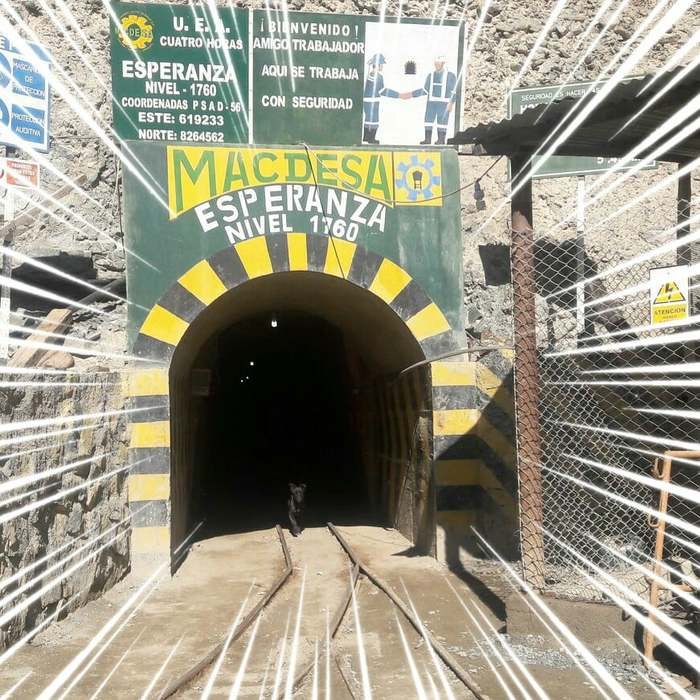 The entrance to the Macdesa mine in Peru: the present source of our Fairtrade Gold at Reflective Jewelry.