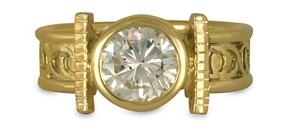 Our open mount engagement ring style is a perfect engagement ring for your active lifestyle