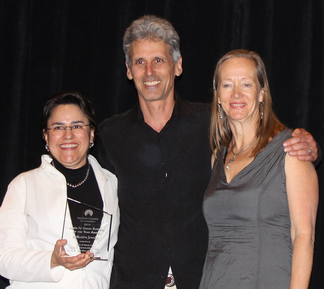 Reflective Jewelry was named Santa Fe, New Mexico Green Business of the Year 2019.