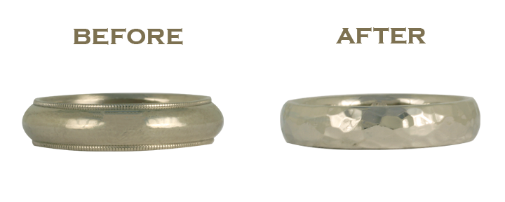 A simple wedding ring redesign — transforming an old inherited wedding ring into a brand new design is simple and affordable!
