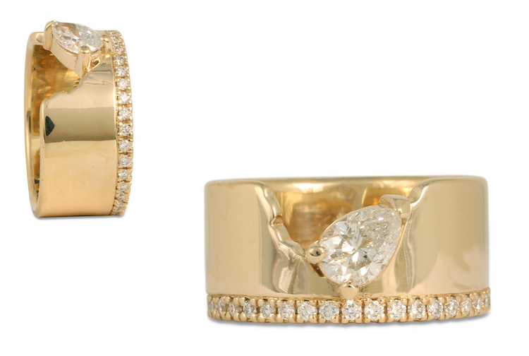 This custom diamond ring was created on CAD/CAM to ensure our client received exactly what she wanted.