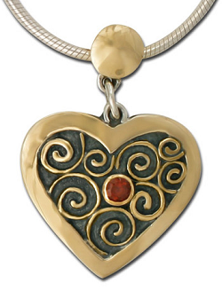 Hand made heart made with fair trade gold by Reflective Jewelry