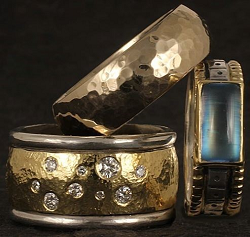 Handmade designer rings by Reflective Jewelry