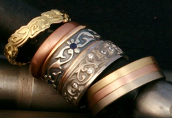 handmade wedding rings by Reflective Jewelry