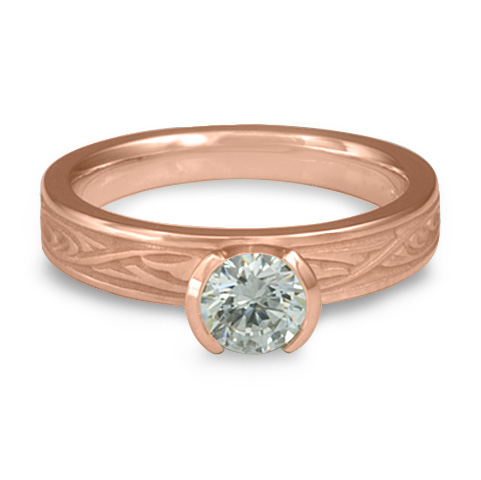 Extra Narrow Papyrus Engagement Ring in 14K Rose Gold