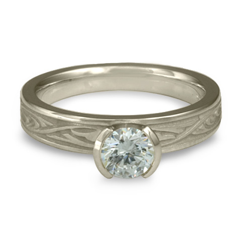 Extra Narrow Papyrus Engagement Ring in Platinum