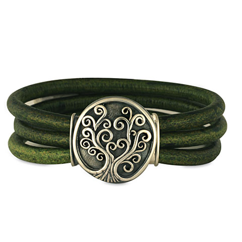 Tree of Life Leather Bracelet in