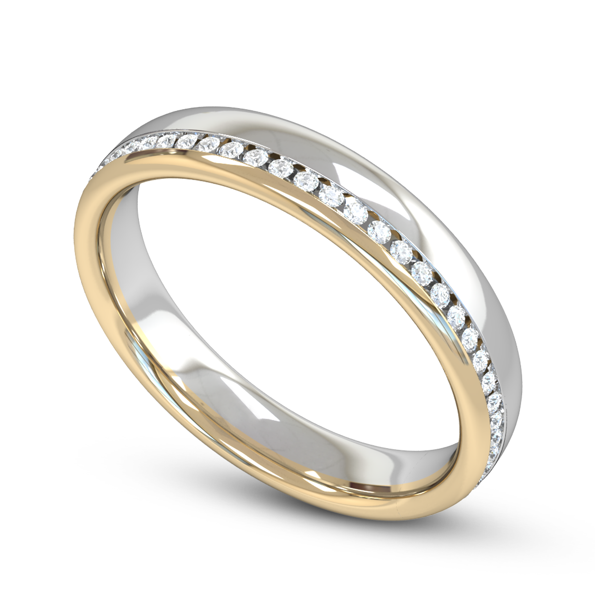 Diamond and Gem Fairtrade Gold Eternity Ring in