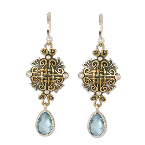 Shonifico Earrings with Gem in Sky Blue Topaz