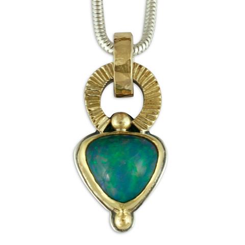 One of a kind sol ethiopian opal pendant 14k yellow gold design w one of a kind sol ethiopian opal pendant in ethiopian opal mozeypictures Choice Image