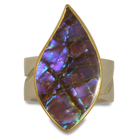 One-of-a-Kind Ammolite River Ring in