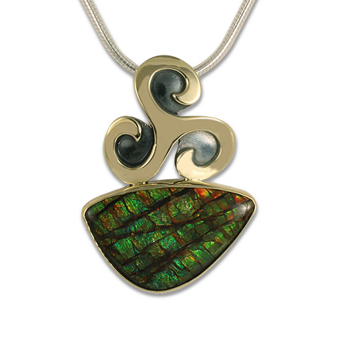 One-of-a-Kind Triscali Ammolite Pendant in