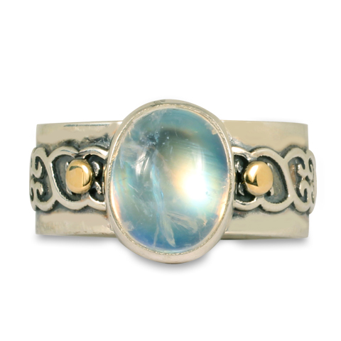 One-of-a-Kind Moonstone Heartly Ring in
