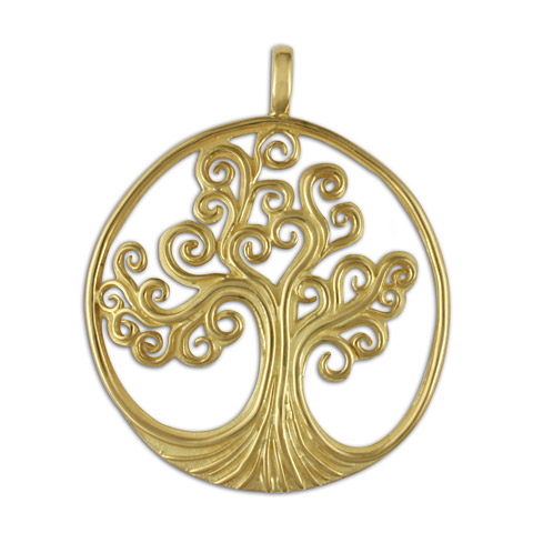 Tree of Life Pendant 14K Large in