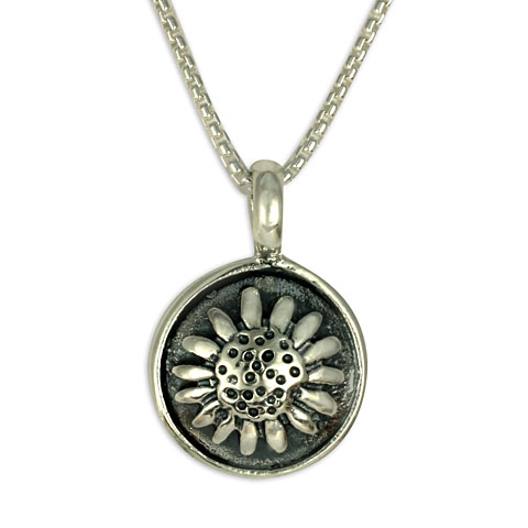 Sunflower Pendant in