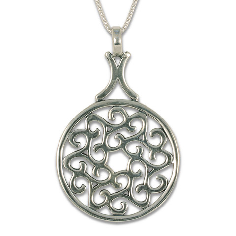Swirling Triscali Pendant in