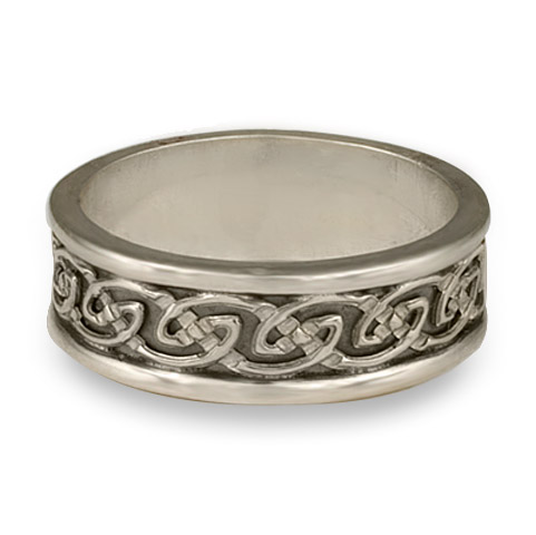Bordered Petra Wedding Ring in