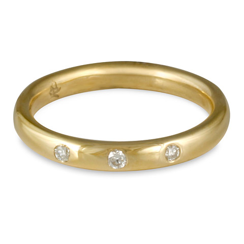Simplicity Wedding Ring with Gems in
