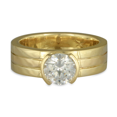 Marcello Engagement Ring in Diamond & 18K Yellow Gold