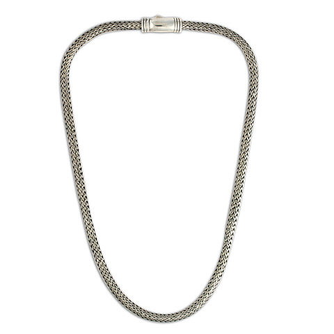 Silver Woven Chain in