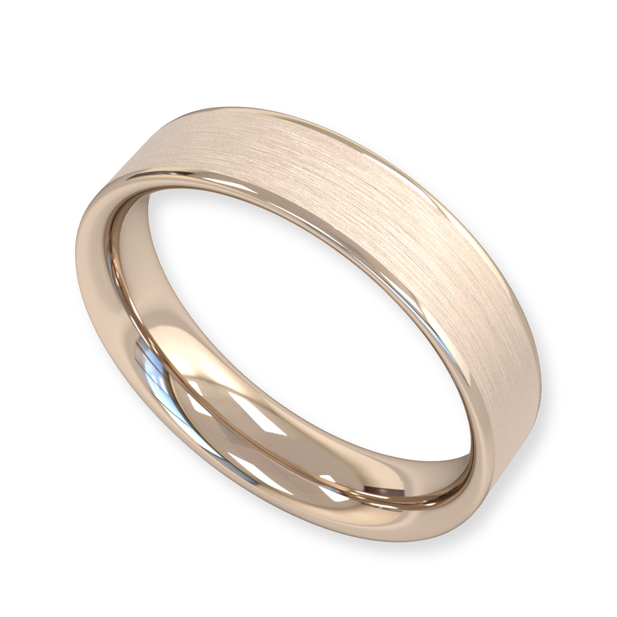 Fairtrade Gold Flat Topped Wedding Ring in