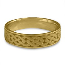 Narrow Celtic Link Wedding Ring in 18K Yellow Gold