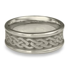 Narrow Self Bordered Celtic Link Wedding Ring in Platinum