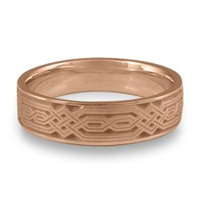 Narrow Persian Wedding Ring in 14K Rose Gold