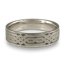 Narrow Persian Wedding Ring in Stainless Steel