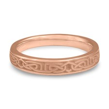 Extra Narrow Labyrinth Wedding Ring in 14K Rose Gold