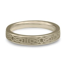 Extra Narrow Labyrinth Wedding Ring in 14K White Gold