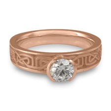 Extra Narrow Labyrinth Engagement Ring in 14K Rose Gold