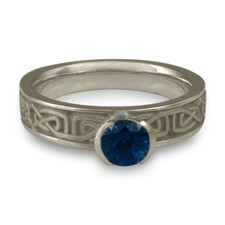 Extra Narrow Labyrinth Engagement Ring in Sapphire