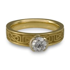 Extra Narrow Labyrinth Engagement Ring in Diamond