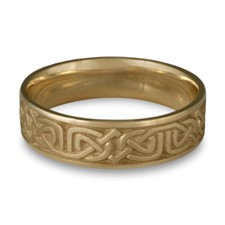 Narrow Labyrinth Wedding Ring in 14K Yellow Gold