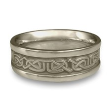 Extra Narrow Self Bordered Labyrinth Wedding Ring in Stainless Steel