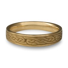 Narrow Infinity Wedding Ring in 14K Yellow Gold