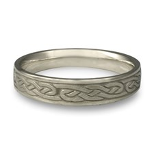 Narrow Infinity Wedding Ring in Platinum