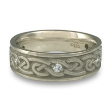 Medium Infinity Wedding Ring with Gems in Diamond