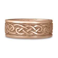 Wide Infinity Wedding Ring in 14K Rose Gold