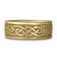 Wide Infinity Wedding Ring in 14K Yellow Gold