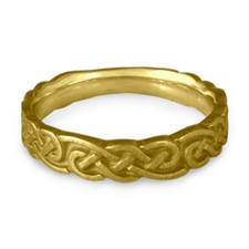 Medium Borderless Infinity Wedding Ring in 18K Yellow Gold