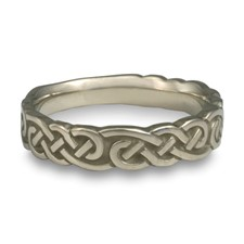 Wide Borderless Infinity Wedding Ring in 14K White Gold