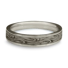 Extra Narrow Starry Night Wedding Ring in Stainless Steel